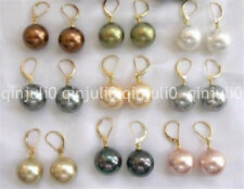 Wholesale Beautiful 9 Pair 10mm Multicolor Shell Pearl Earring JE159