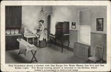 Consumers Gas Co Gas Appliances c1910 Kitchen & Woman - Postcard