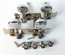 Classical Guitar Chrome Tuning Pegs Machine Heads tuner for 4 strings Guitar