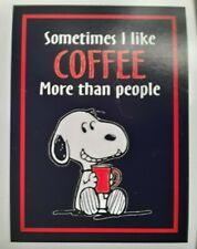 Peanuts ☆ Snoopy ♡ Sometimes I Like Coffee ♡ Magnet