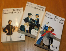 LOT 1-2-3 HENRI TROYAT folio poche TANT QUE LA TERRE DURERA 1972 1979 1980 livre