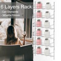 6 Tier Kitchen Spice Rack Cabinet Organizer Door Wall Mount Storage Shelf Holder
