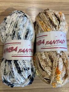 Textured Scarf Yarn, Rumba Fantasy By Designer Yarns. 2 X 100g Balls