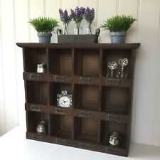 Shabby Chic Wall Unit Shelf Storage Cabinet Cupboard Pigeon Hole Display Shelf