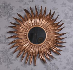Antique Mirror Star Metal Kupferspiegel Wall Mirror Flammenspiegel