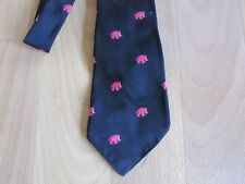 VINTAGE Pink Elephant Motivo Cravatta da CH Munday Leicester Square
