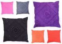 """Indian Cotton Cushion Cover Pillow Case Sofa Mirror Embroidered Decorative 24"""""""