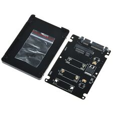 "Mini pcie mSATA SSD to 2.5"" SATA3 adapter card with case 7 mm thickness Black"