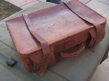 rare  valise en  cuir  officier us   attribuee    1942   us   ww2  (g)