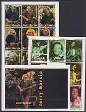 MONTSERRAT : 199 Jerry Garcia + Bob Marley sheetlets(2)+MS SG1086-1102+MS MNH