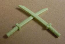 2 Lego Samurai Schwerter Ninja grün Krumsäbel Ninjago Säbel Schwert Waffe Neu
