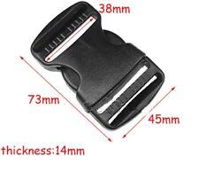 38mm Black Plastic Side Quick Release Buckle Clip – Cord Strap Backpack Bag Safe