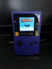 Nintendo Gameboy colour Purple Pokemon Edition Backlit Screen (ags 101)
