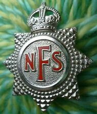 NFS National Fire Service Brigade Corps Cap Badge KC 2 Lugs ANTIQUE