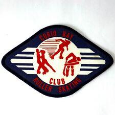 CORIO BAY ROLLER SKATING CLUB Cloth Sew On Vintage Sport Hockey Dance Race Badge