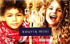GIFT CARD FROM SOURIS MINI CANADA BILINGUAL NO CASH VALUE RECHARGEABLE!