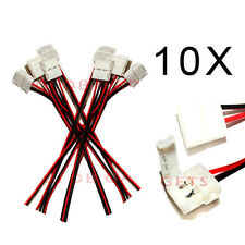 10 x PCB Connector Adapters for 3528/5050 Single Color LED Strip Connect to  END
