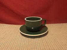 Sasaki Dinnerware Colorstone Hunter Green Pattern Cup & Saucer Set