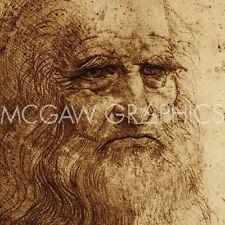 """DA VINCI LEONARDO - SELF PORTRAIT (DETAIL),  ART PRINT POSTER 12"""" x 12"""" (2097)"""