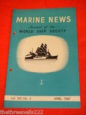 MARINE NEWS - APRIL 1967 VOL XXl #4