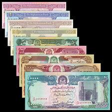 Afghanistan Set 9 PCS, 1+2+5+10+50+100+500+1000+10000 Afghanis, UNC