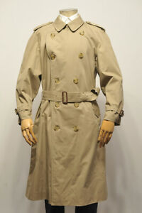 Mens BURBERRY London Double Breasted Trench Coat size 50 Regular