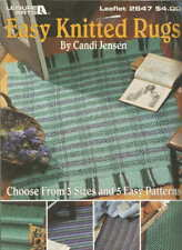 Easy Knitted Rugs Candi Jensen Knitting Patterns Runners Stripes +