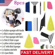 Professional 8 in 1 Car Window Film Tools Squeegee Scraper Set Kit Car Tint #