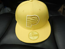 Indiana Pacers New Era 59FIFTY Tonal Fitted Hat YELLOW Size 7 1/2 7.5