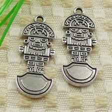 25pcs tibetan silver robot charms 39x14mm #4621
