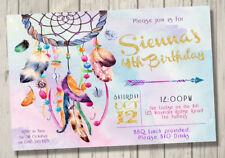 Dreamcatcher Girls Ladies Invitation Any Age Kids Birthday Party Invite Rustic
