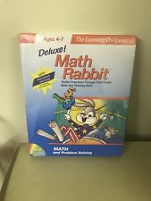 The Learning Company Deluxe Math Rabbit CD-ROM PC/MAC Ages 4-7 Sealed Big Box!