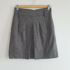 Sportsgirl Size 6 Womens Grey Pleated Skirt With Pockets Work Career