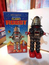 tole tin toy action robot planet mecanique mechanical robby