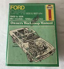 Vintage Ford Capri 1300+1600 OHV Owners Workshop Manual 1979 Haynes Hardback 029