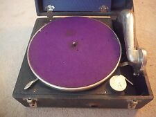 Vintage 1920's Swanson Portable Phonograph Hand Crank Record Player