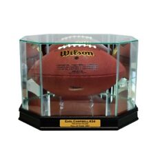 New Earl Campbell Houston Oilers Glass and Mirror Football Display Case UV