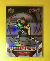 2019-20 Upper Deck MVP Hockey Sidney Crosby Laser Shots Holo Insert S-6