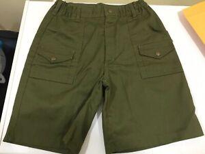 "Boy Scout Green Uniform Shorts 26"" C991"