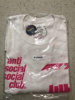 ASSC Anti Social Social Club X Undefeated F1 Formula 1 White T-Shirt Size XL
