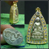 PHRA KRING BUDDHA Sri Suttor Naga, Holy Amulet Blessed Good Health พระกริ่ง