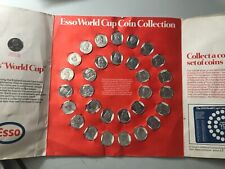 Esso World Cup football Coin Collection Album Mexico 70 complete set. on card