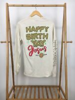 Simply Southern Women's Happy Birthday Yay Jesus Long Sleeve T-Shirt Size S