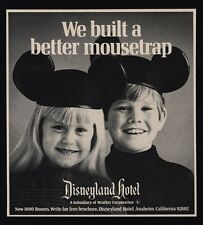 1970 DISNEYLAND Hotel - We Build A Better Mousetrap - Happy Kids - VINTAGE AD