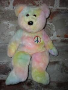 Ty The Beanie Buddies Collections PEACE BEAR Rare 1999