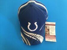 Peyton Manning HOF Colts Broncos Signed Auto Cap Hat JSA COA
