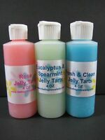 4 Oz Leather Scent Jelly Tarts Home Fragrance Oil One Bottle Melts