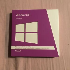 Microsoft Windows 8.1 (2x DVDs) 32+64 bit  Full Edition UK