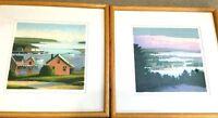 2 Sandy Wadlington Framed Prints Harmony of the Seasons Ltd Ed Signed Numbered.