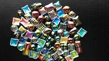 Coe90 - millefiori alt -Dichroic mini fusing beads - for glass or microwave kiln
